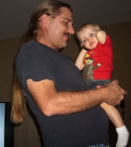 My dad with my nephew